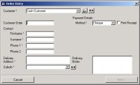 Example wizard style entry form - click to view full size